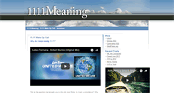 Preview of 1111meaning.net